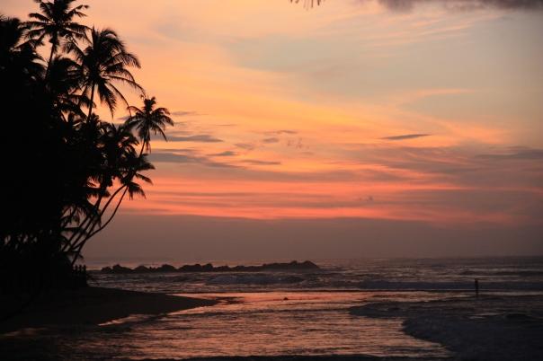 Sunrise in Sri Lanka - well worth an infected knee