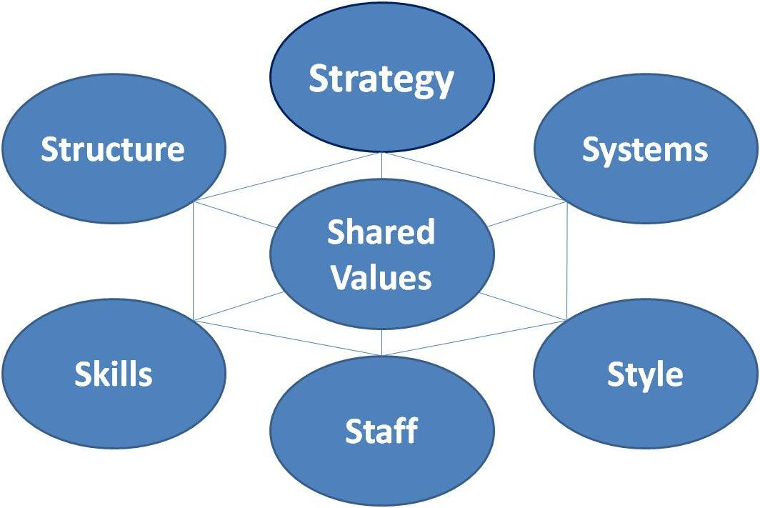 mckinsey 7s model for internal environment Firm-level institutions and performance of firm-level institutions constitute the internal organizational environment mckinsey 7s framework is.